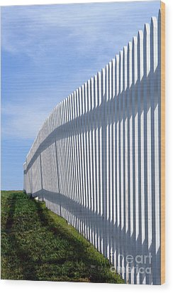 White Picket Fence Wood Print by Olivier Le Queinec