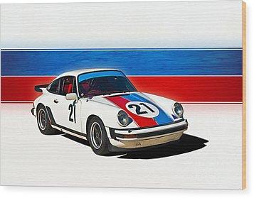 White Porsche 911 Wood Print