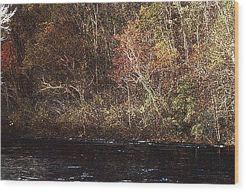 Wood Print featuring the photograph White River by Donna Smith