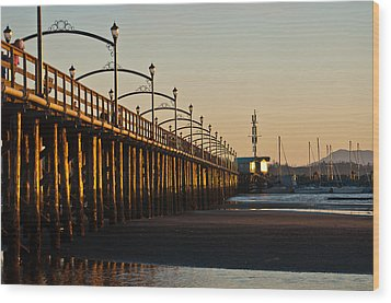 Wood Print featuring the photograph White Rock Pier by Sabine Edrissi