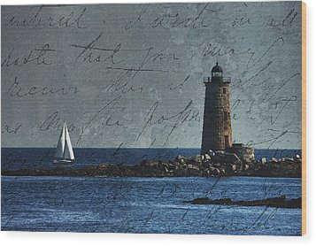 Wood Print featuring the photograph White Sails On Blue  by Jeff Folger