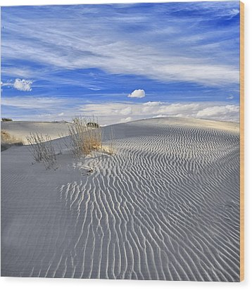 White Sand And Blue Sky Wood Print by Wendell Thompson
