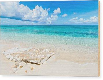 White Sand Wood Print by Chad Dutson