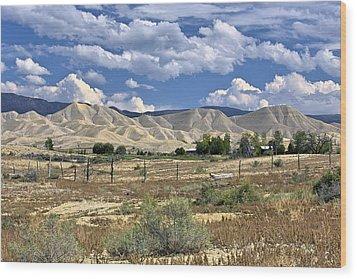 White Sand Hills Montrose Colorado Wood Print