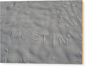 White Sand Of Destin 002 Wood Print by George Bostian