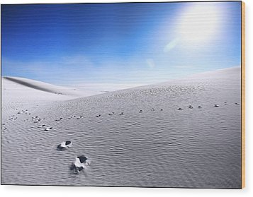 White Sands Wood Print
