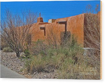 White Sands New Mexico Adobe 01 Wood Print by Gregory Dyer