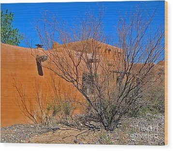 White Sands New Mexico Adobe 02 Wood Print by Gregory Dyer