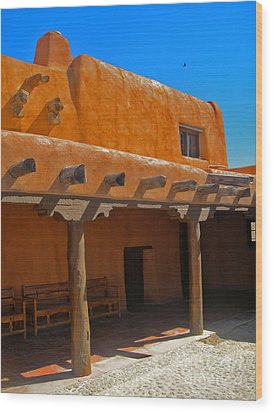 White Sands New Mexico Adobe 03 Wood Print by Gregory Dyer