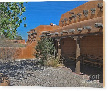 White Sands New Mexico Adobe Wood Print by Gregory Dyer