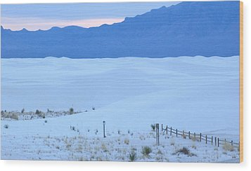 White Sands New Mexico Wood Print