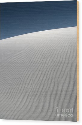 White Sands New Mexico Dune Abstraction Wood Print by Gregory Dyer