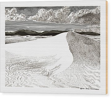 White Sands New Mexico Wood Print by Jack Pumphrey