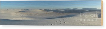 White Sands New Mexico Panorama 02 Wood Print by Gregory Dyer