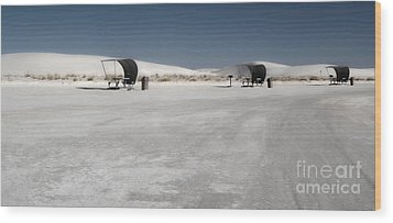 White Sands New Mexico Rest Area Wood Print by Gregory Dyer