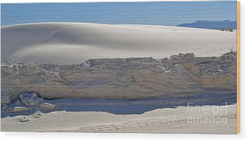 White Sands New Mexico Sand Dune Crumble Wood Print by Gregory Dyer