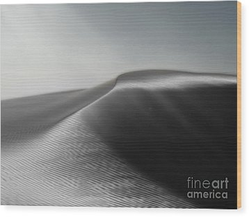 White Sands New Mexico Silver Dune Wood Print by Gregory Dyer