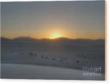 White Sands New Mexico Sunset Wood Print by Gregory Dyer