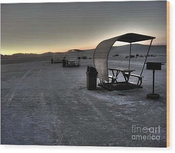 White Sands New Mexico Sunset Twilight 02 Wood Print by Gregory Dyer