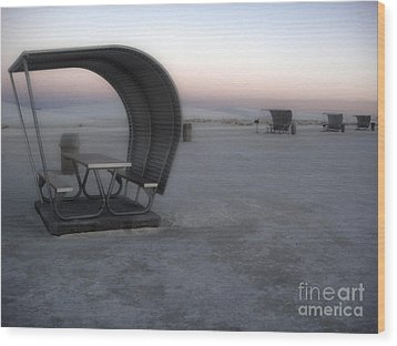 White Sands New Mexico Sunset Twilight Wood Print by Gregory Dyer