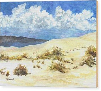 White Sands New Mexico U S A Wood Print by Carol Wisniewski