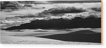 White Sands Nm Panorama Wood Print