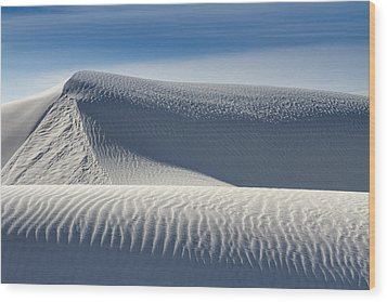 Wood Print featuring the photograph White Sands Ridges by Kristal Kraft