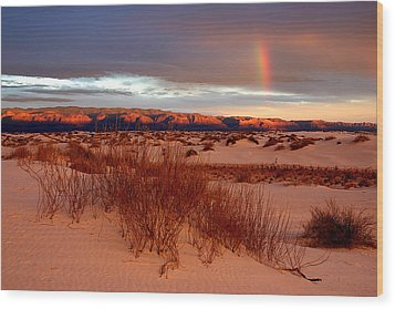 Wood Print featuring the photograph White Sands Sunset by Christopher McKenzie
