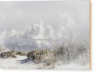 White Sands Winter Wood Print
