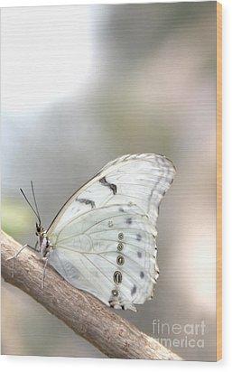 White Serenity Wood Print