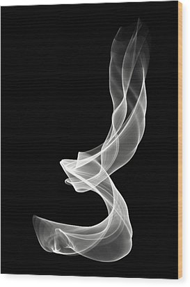 White Smoke Wood Print by Matthew Angelo