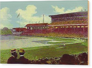 White Sox Ball Park In Chicago Il Around 1915 Wood Print by Dwight Goss