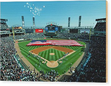 White Sox Opening Day Wood Print by Benjamin Yeager