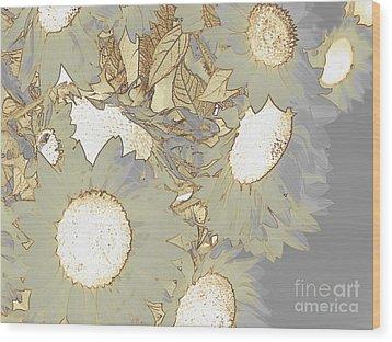 White Swan Wood Print by France Laliberte