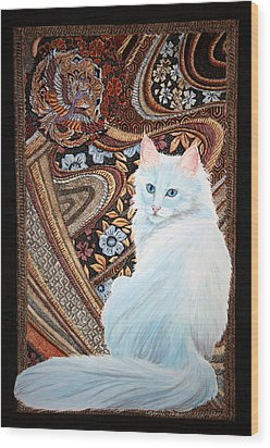 White Turkish Angora Wood Print