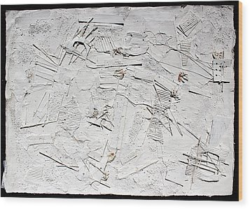 White Web Collage 7 Wood Print by Hari Thomas