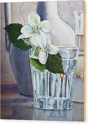 White White Jasmine  Wood Print by Irina Sztukowski