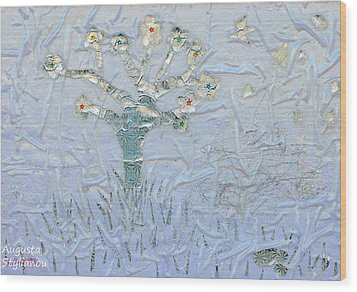 White World Wood Print by Augusta Stylianou