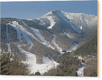 Whiteface Ski Mountain In Upstate New York Near Lake Placid Wood Print