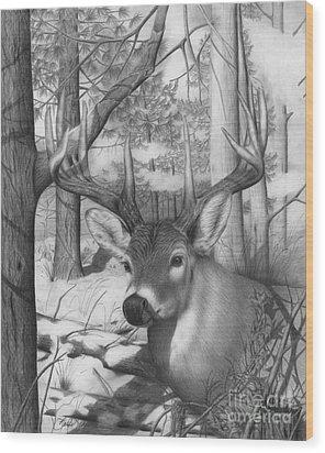 Whitetail Phantom Wood Print