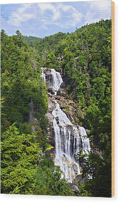 Whitewater Falls Wood Print by Susan Leggett