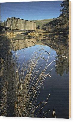 Whitman County Bridge Wood Print