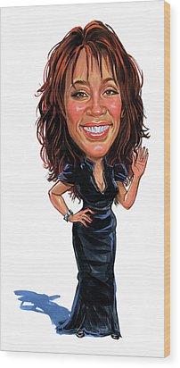 Whitney Houston Wood Print by Art