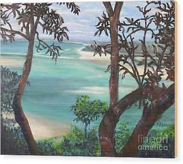 Whitsunday Blues Wood Print