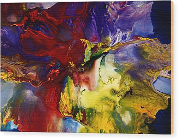 Who Knows Modern Abstract Art Wood Print by Serg Wiaderny