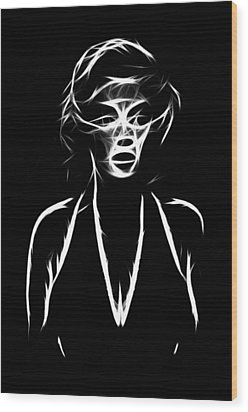 Who S That Girl Wood Print by Steve K