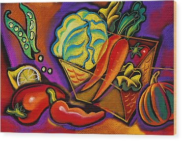 Very Healthy For You Wood Print by Leon Zernitsky