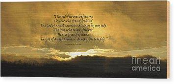 Whom Shall I Fear Wood Print by Diane E Berry