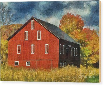 Why Do They Paint Barns Red? Wood Print by Lois Bryan