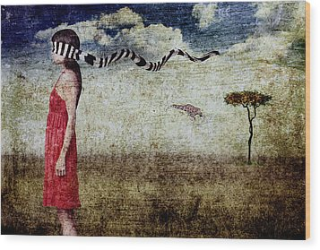 Why Yes Emily I Do Like Giraffes Wood Print by Andre Giovina